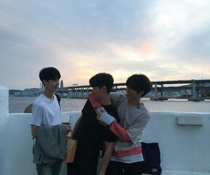 boy, korean, and friends image