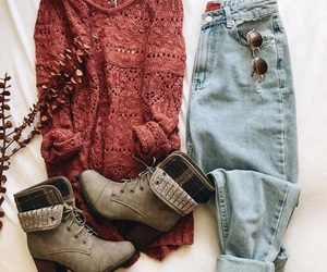 outfit, sweater, and autumn image