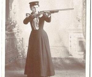 girl power, gun, and hunter image