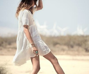 bohemian, dress, and hippie image