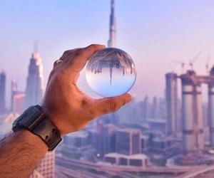 city, downtown, and Dubai image