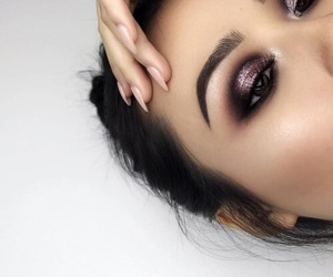 girl, luxurious, and purple image