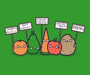 vegan and funny image