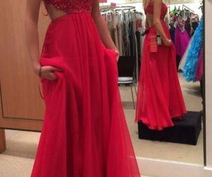 dress and prom dress red image