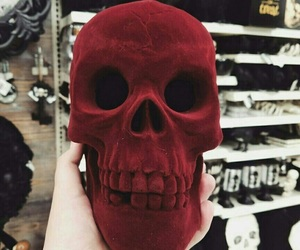 red and skull image