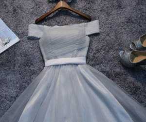 dresses, fashion, and grey image