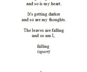 falling, quotes, and sad image