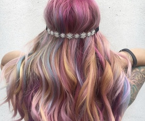 colored hair, dye, and dyed hair image