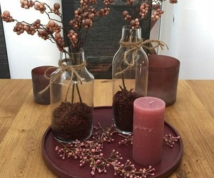candles, happiness, and home decor image