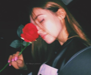 girl, rose, and aesthetic image