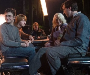 daniel radcliffe, evanna lynch, and harry potter image