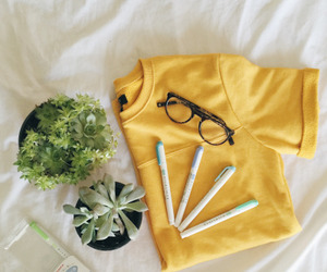 yellow, aesthetic, and plants image