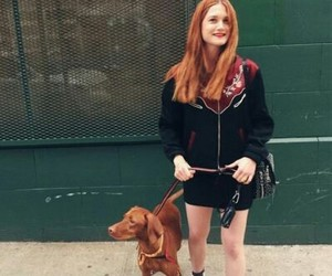 bonnie wright, dog, and harry potter image