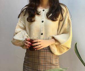 asian fashion, korean fashion, and outerwear image