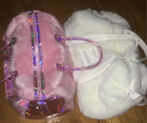 bags, pink, and white image