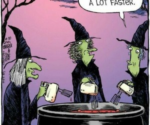witch, funny, and Halloween image
