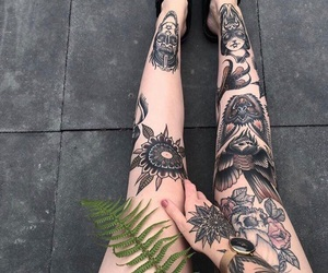tattoo, girl, and beauty image