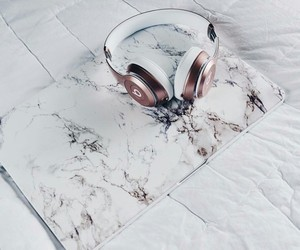 headphones, laptop, and music image