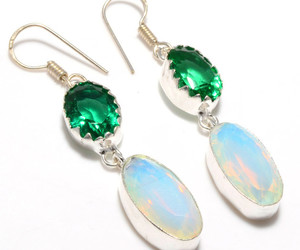 drop, sterling silver, and dangle earrings image