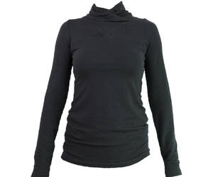 black top, minimalist fashion, and long sleeve top image