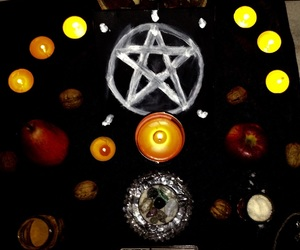 autumn, candles, and wiccan image