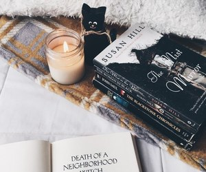 book, candle, and inspiration image