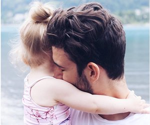 father and daughters love image