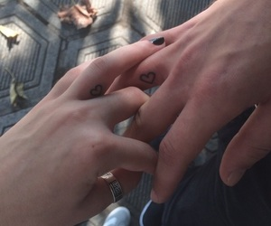 couple, fingers, and heart image