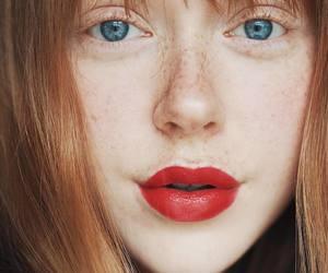 beauty, blue eyes, and fashion image