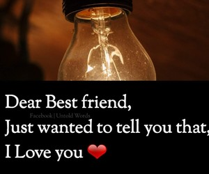 besties, love you, and friends image