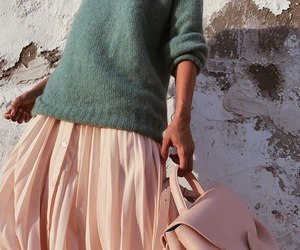 pink, style, and sweater image