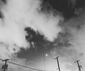 alternative, sky, and black and white image