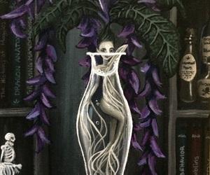 art, books, and fantasy image