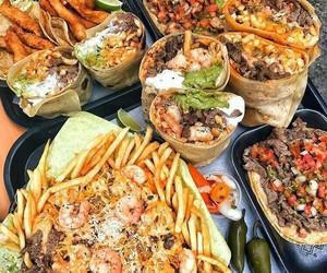food, burritos, and fries image