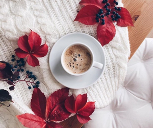 coffee, autumn, and red image