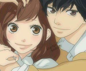 ao haru ride, anime, and couple image
