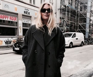 coat, fashion, and indie image