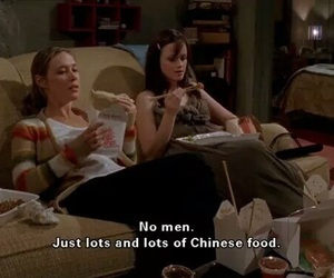 gilmore girls, food, and chinese food image