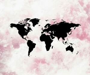 world, pink, and wallpaper image