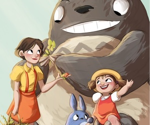 anime, japan, and totoro image