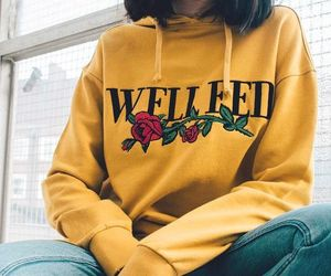 yellow, girl, and outfit image