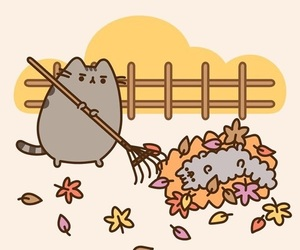 pusheen, autumn, and cat image