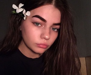 alternative, eyebrows, and flower image