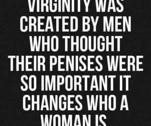 virginity, feminism, and quote image