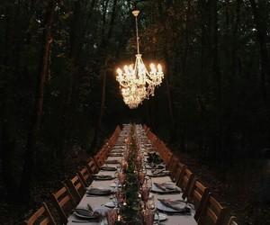 wedding, life goals, and woods image