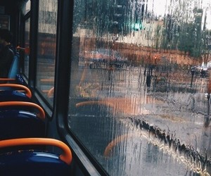 bus, rain, and indie image