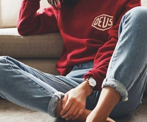 comfy, red, and fashion image