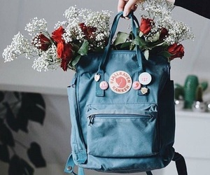 aesthetic, backpack, and blue image