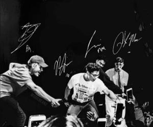 band, black&white, and boys image