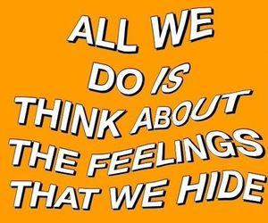 Lyrics, feelings, and orange image